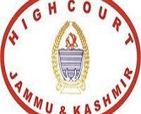 JK High Court Notification 2020