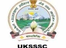 UKSSSC Notification 2019