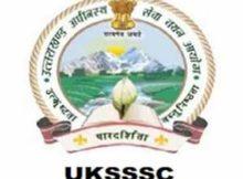UKSSSC vacancy