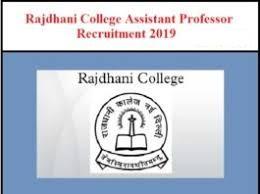 Rajdhani College Delhi Notification 2019 – Openings For 63 Assistant Professor Posts