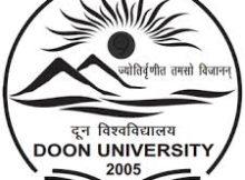 Doon University Notification 2019