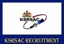 KSRSAC Notification 2019 – Openings For Various Trainee, Consultant Posts