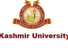 University Of Kashmir Notification 2019