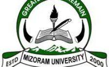 Mizoram University Notification 2020